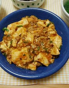 自家製豚ひき肉で作る麻婆飯と簡単!中華スープ