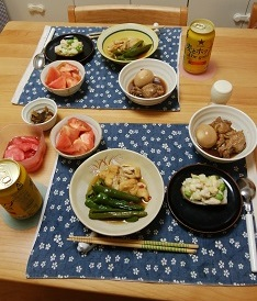 【夕飯】長いものグラタン&甘辛ピーマンの煮物 など