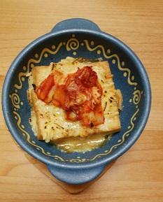 晩御飯『超簡単!豆腐のキムチチーズ焼き』と豆腐の効能