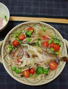 鯛のアクアパッツァ(アサリなし)